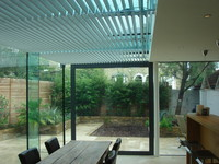 Glass home extension, Londen Hillside